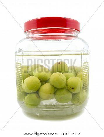 Pickle Japanese Plum Liqueur In Glass Jar