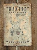stock photo of wild west  - Wild West styled poster - JPG