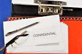 Privately In An Envelope In The Mail.confidential-the Agreement Of Mutual Exchange Of Materials, Wit poster
