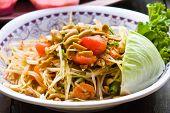 Spicy Papaya Salad From Thailand poster