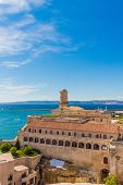 Marseille France. 22 June 2019. A View Of Fort Saint Jean In Marseille In France poster