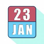 January 23rd. Day 23 Of Month, Simple Calendar Icon On White Background. Planning. Time Management.  poster