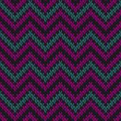 Vintage Chevron Stripes Knitting Texture Geometric Vector Seamless. Scarf Knitting Pattern Imitation poster