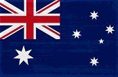 Australian National Flag Isolated Vector Illustration. Travel Map Design Element. Australian Flag Ic poster