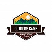 Vintage Outdoor Camp Badges And Logo Emblems Vector Design poster