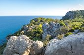 The Coast Of Mediterranean Sea In Kemer, Seaside Resort And District Of Antalya Province On The Medi poster
