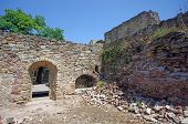 picture of suceava  - Room ruins in Suceava fortress medieval construction - JPG