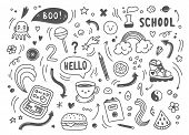 Set Of Hand Drawn Doodle Elements, Arrows, Stars, Symbols, Office Or School Objects And Stationery.f poster
