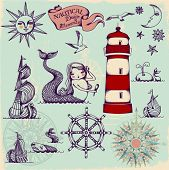 picture of wind-rose  - Nautical Design Elements  - JPG