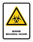 Beware Biological Hazard Symbol Sign ,vector Illustration, Isolate On White Background Label .eps10 poster
