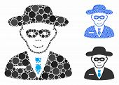 Security Agent Mosaic Of Circle Elements In Various Sizes And Color Hues, Based On Security Agent Ic poster