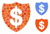 Deposit Insurance Mosaic Of Round Dots In Different Sizes And Color Tinges, Based On Deposit Insuran poster