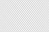 Wire Fence Pattern. Seamless Steel Texture Background, Realistic Chainlink Safe Fence Isolated On Wh poster