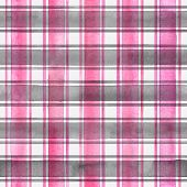 Watercolor Stripe Plaid Seamless Pattern. Colorful Gray Pink Stripes On White Background. Watercolou poster