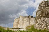 Chateau Gaillard defending walls