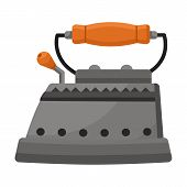 Steam Iron For Home Clothes Vector Cartoon Icon.cartoon Illustration Of Laundry Appliance And Hot St poster