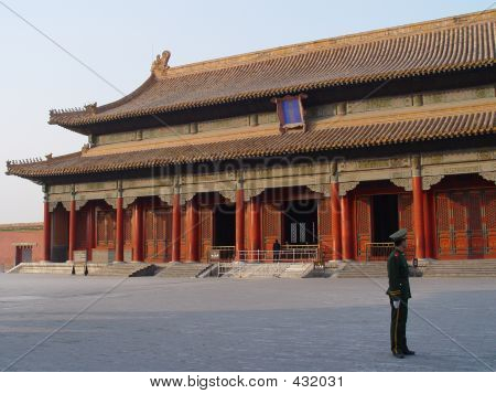 Guard In Forbidden City