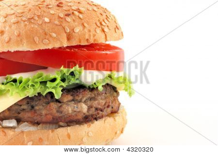 Cheeseburger W Sauce Half