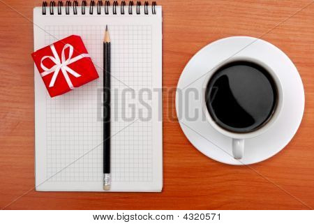 Coffee Note Pencil Gift