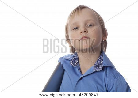 Small Boy With touch pad