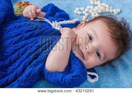 Portrait Of Baby Girl Fashionista