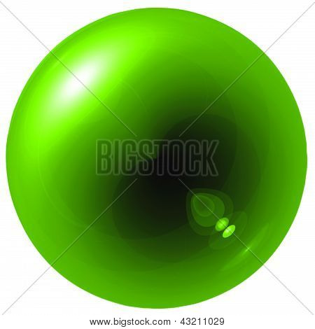 Glare Green Ball