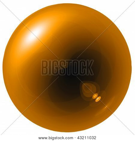 Glare Orange Ball