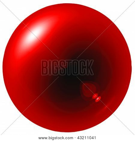 Glare Red Ball