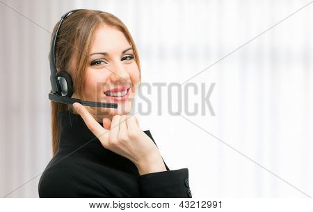 Portrait of a beautiful customer representative