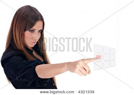 Business Woman Selected Visual Button
