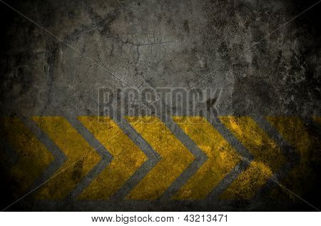 grunge wall with arrows sign