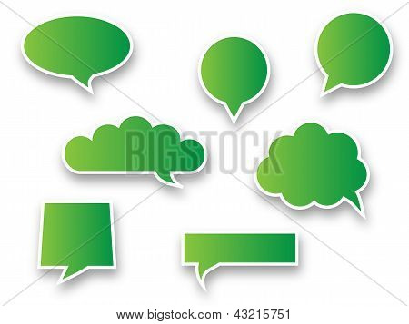 Green speech bubbles