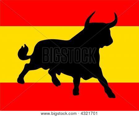 Toro auf spanischen Farben