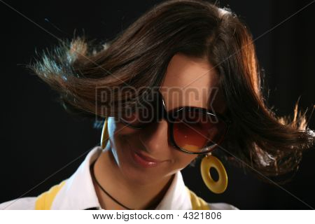 Woman Portrait With Hairstyle