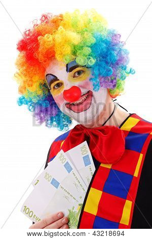 Clown Showing Big Money