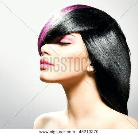 Fashion Hair. Hairstyle. Beauty Fashion Model Portrait. Hairdressing