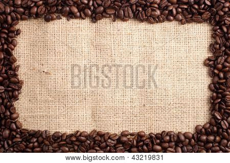 Photo of Coffee beans and sizal