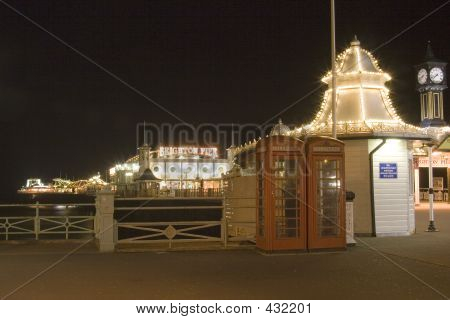 Brighton Pier South England At Night