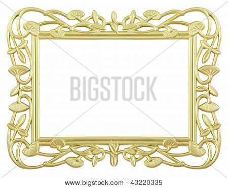 Flower Gold Frame
