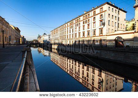 ST.PETERSBURG, RUSSIA - MAY 21: Griboyedov Canal Embankment, May 21, 2012 in St.Petersburg, Russia. Canal constructed in 1739 on the basis of the existing river Krivusha. In 1764�?�¢??1790 was deepened.