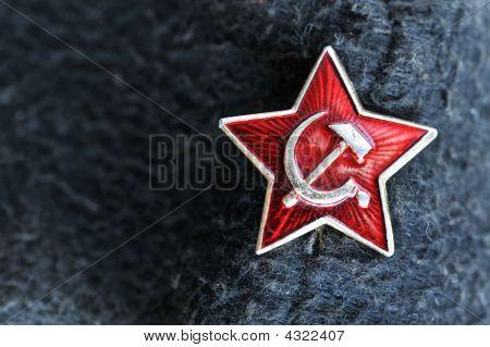 Star Badge From Former Soviet Union