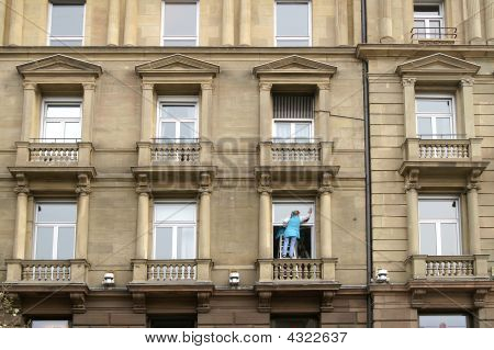 Window Cleaning Woman