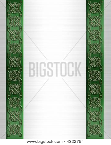 St Patricks Day Celtic Knot Border