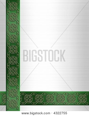 Irish Celtic Border Elegant Satin