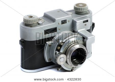 Vintage  35 Mm Metal Chrome Photo Camera