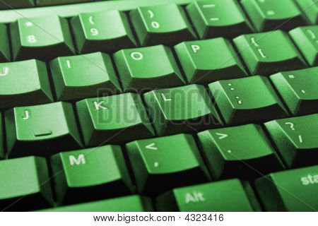 Green Computer Keyboard
