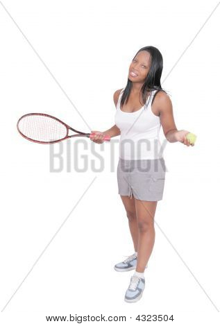 Tennis Playing Woman