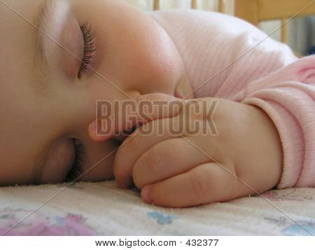 Sleeping Baby With Hand 2
