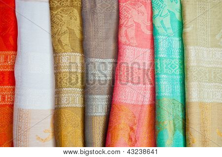 Tecidos de seda tailandesas