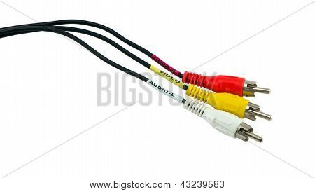 Tulip Video Audio Tv Cable Wires Plugs
